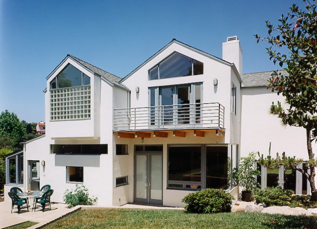 home remodel and addition, wood, stucco, glass, Westwood