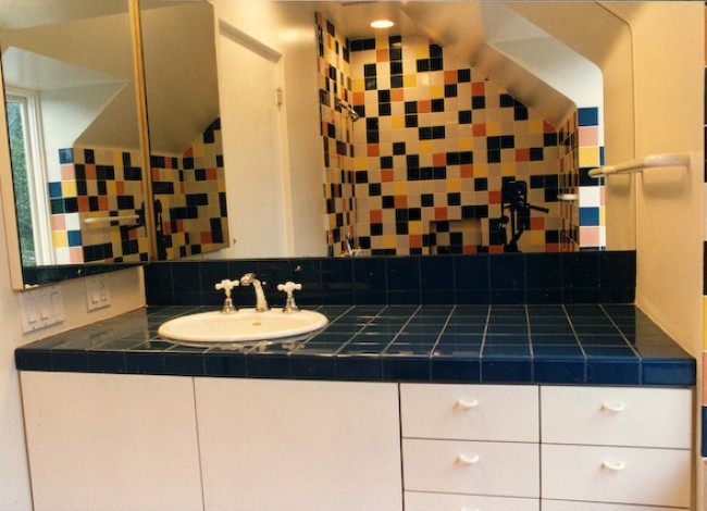 custom ceramic tile design, kids' bathroom, Westwood