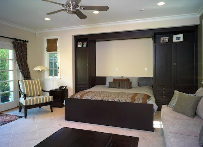 guest room, Murohy bed down, modern home architecture, Westwood