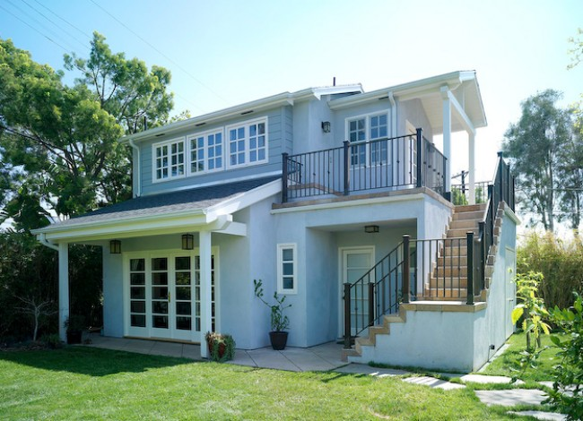 Guest House, two story floor plan, residential addition, Westwood