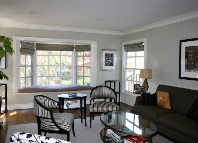 living room, updated window seat, interior design, Westwood