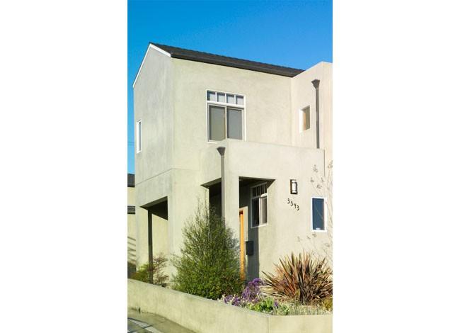 site planning, minimalism, house entrance design, corner entrance detail, Mar Vista
