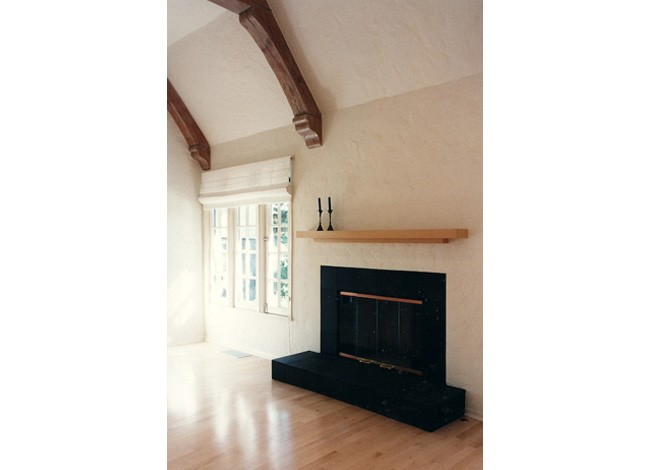 interior remodel, minimalist design, elevation of fireplace wall, Beverly HIlls
