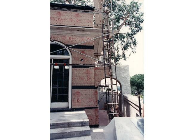 Los Feliz historical estate, repair of addition, floor plan and elevation