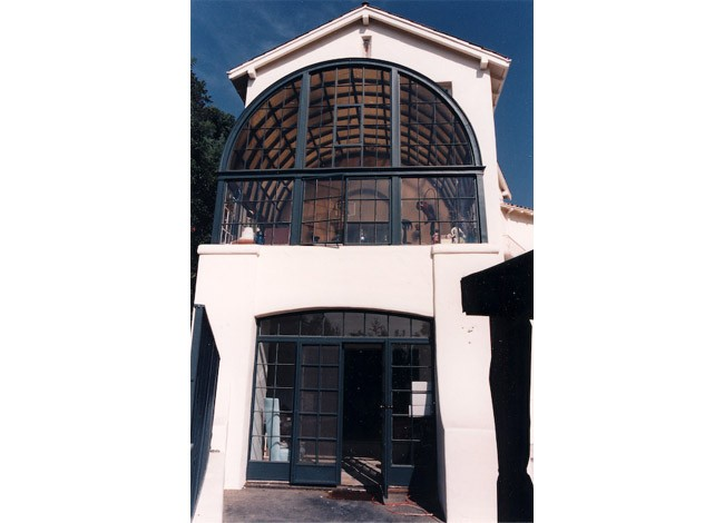 Los Feliz historical estate, Los Angeles, addition, sunroom