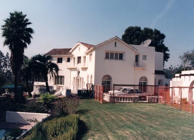 Los Feliz historical estate, custom detials, cast stone, thick walls